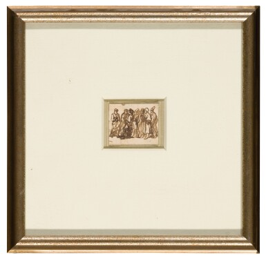 View 2. Thumbnail of Lot 94. A group of standing figures.