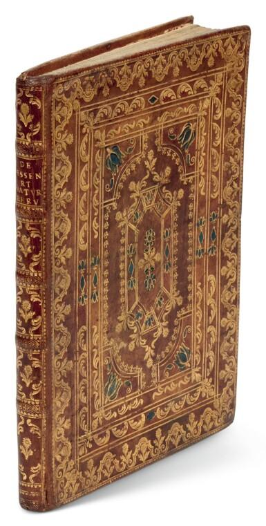 View 1. Thumbnail of Lot 112. Egenus Explorator, De essentia et natura rerum, Naples, 1781, contemporary calf gilt.
