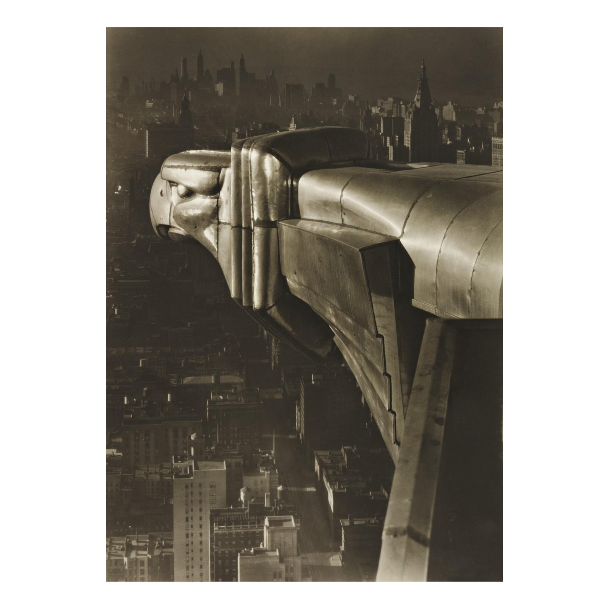 View full screen - View 1 of Lot 137. MARGARET BOURKE-WHITE   'GARGOYLE, CHRYSLER BUILDING, N. Y. C.'.