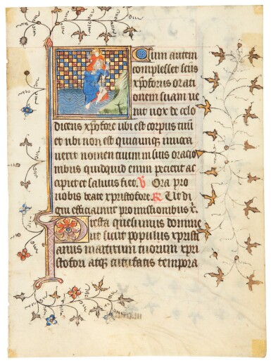 Four small miniatures on two leaves from a Book of Hours [France, Brittany or Normandy, c.1420]