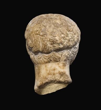 View 4. Thumbnail of Lot 28. A ROMAN MARBLE HEAD OF A MAN, CIRCA 1ST CENTURY A.D..