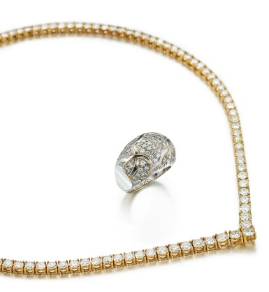 DIAMOND RING, 'DÔME CAMÉLIA', CHANEL; AND A DIAMOND NECKLACE | 鑚石戒指, 'Dôme Camélia', 香奈兒 ( Chanel ); 及 鑚石項鏈