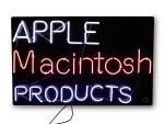 "APPLE COMPUTER, INC.   ORIGINAL NEON ""APPLE MACINTOSH PRODUCTS"" SIGN, CIRCA 1985-1989"