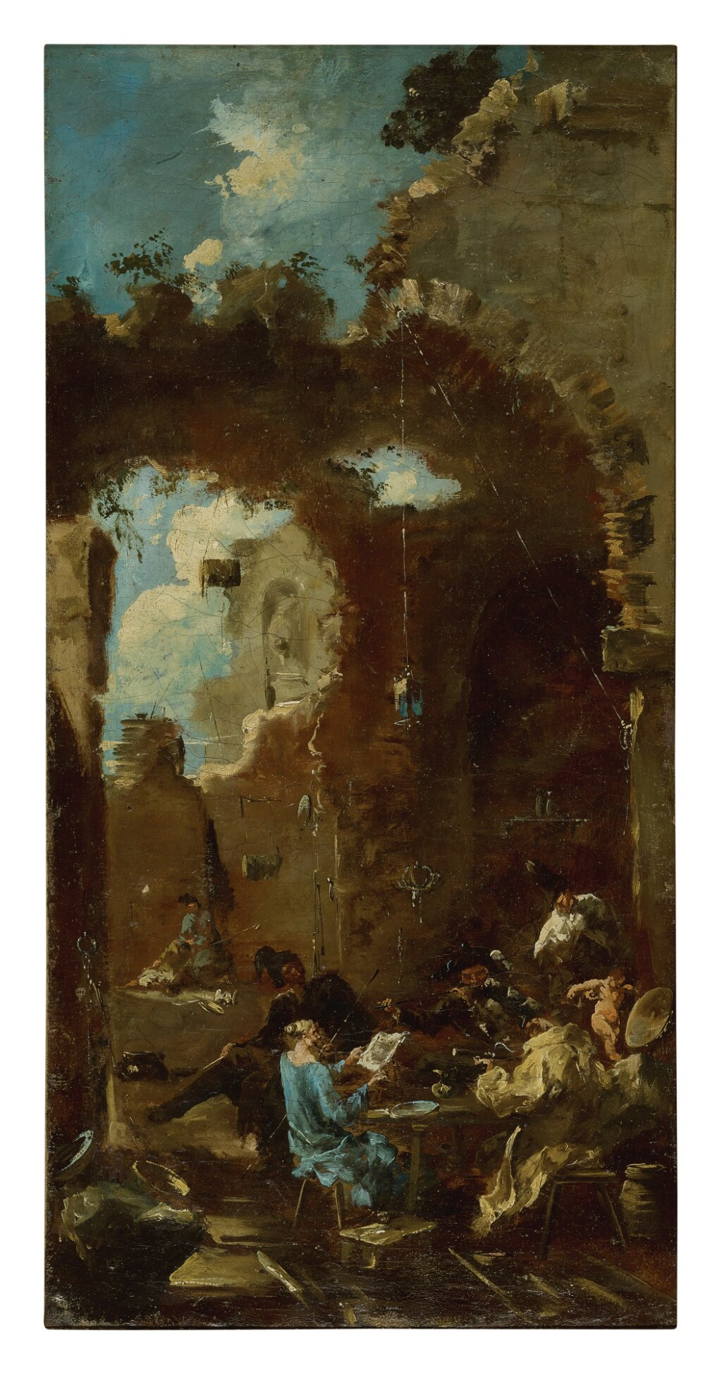 MANNER OF ALESSANDRO MAGNASCO, CALLED IL LISSANDRINO   A CONCERT IN A TAVERN AMONG RUINS