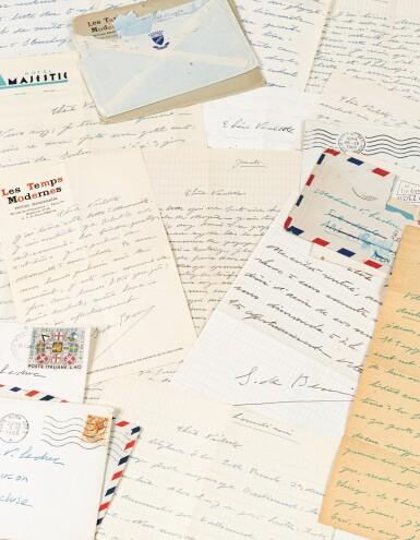 View 1. Thumbnail of Lot 120.  Importante correspondance à Violette Leduc dévoilant leur amitié littéraire. 297 lettres.