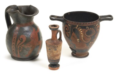 View 3. Thumbnail of Lot 2.  A GROUP OF GREEK POTTERY VESSELS, 5TH/3RD CENTURY B.C..