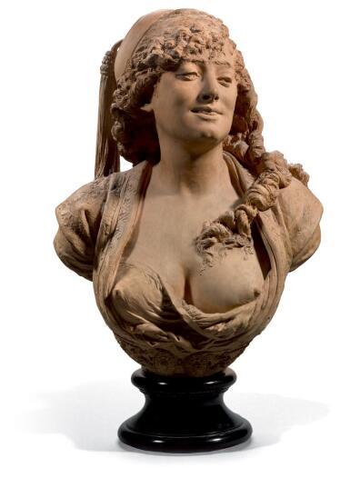 ALBERT-ERNEST CARRIER-BELLEUSE | BUSTE D'ALGERIENNE (BUST OF AN ALGERIAN WOMAN)