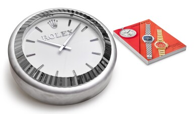 View 4. Thumbnail of Lot 199. INDUCTA MANUFACTURE FOR ROLEX | A METALWORK WALL CLOCK, CIRCA 2010.