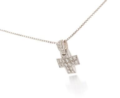 View 1. Thumbnail of Lot 131. Diamond pendant-necklace (Collana con pendente in diamanti).