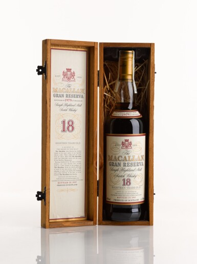 View 3. Thumbnail of Lot 4. THE MACALLAN GRAN RESERVA 18 YEARS OLD 1979.