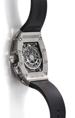 RICHARD MILLE | RM037 A BRAND NEW TITANIUM AND DIAMOND-SET SEMI-SKELETONISED WRISTWATCH WITH DATE, CIRCA 2019