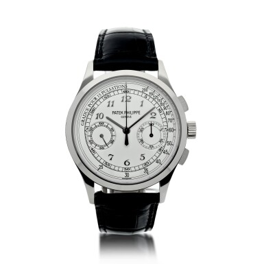 View 1. Thumbnail of Lot 168. REFERENCE 5170G A WHITE GOLD CHRONOGRAPH WRISTWATCH WITH PULSATIONS DIAL, CIRCA 2017.