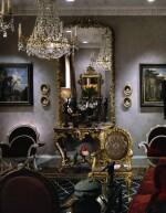A LOUIS XVI STYLE GILTWOOD OVERMANTEL MIRROR, 19TH CENTURY