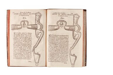 View 1. Thumbnail of Lot 216. Maestre de San Juan, Deleyte de cavalleros, Madrid, 1736, contemporary marbled calf.