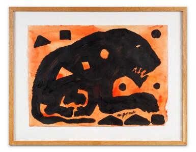 View 2. Thumbnail of Lot 105. Ohne Titel (Lion black)      .