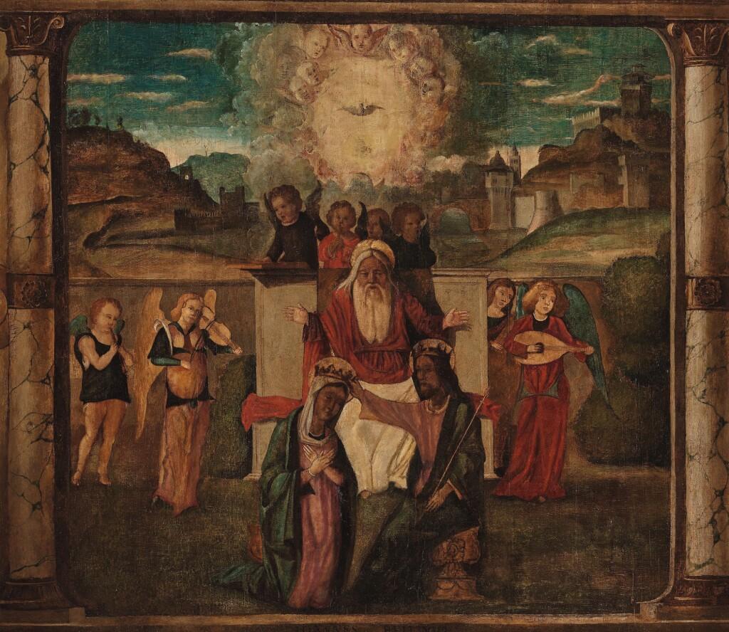 CIRCLE OF GIOVANNI BELLINI   THE CORONATION OF THE VIRGIN