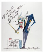 "SCARFE | Pink Floyd's ""The Wall"" - Teacher (""If you don't eat yer meat...""), original drawing"