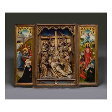 View 1. Thumbnail of Lot 105. Retable with the Lamentation.