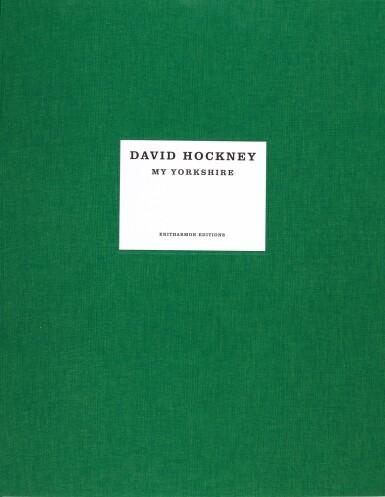 View 2. Thumbnail of Lot 29. DAVID HOCKNEY R.A   RAIN ON THE STUDIO WINDOW.