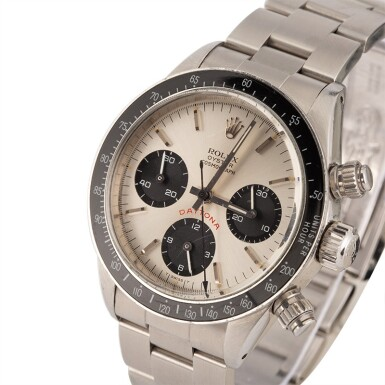 View 2. Thumbnail of Lot 12. ROLEX | Daytona, Ref 6263 A Stainless Steel Chronograph Wristwatch with Bracelet 1978.