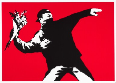 View 1. Thumbnail of Lot 1. BANKSY | LOVE IS IN THE AIR.
