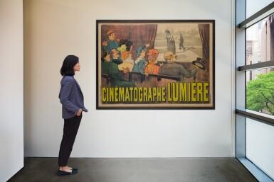 View 4. Thumbnail of Lot 40. Cinématographe Lumière (1895) Poster, French  .
