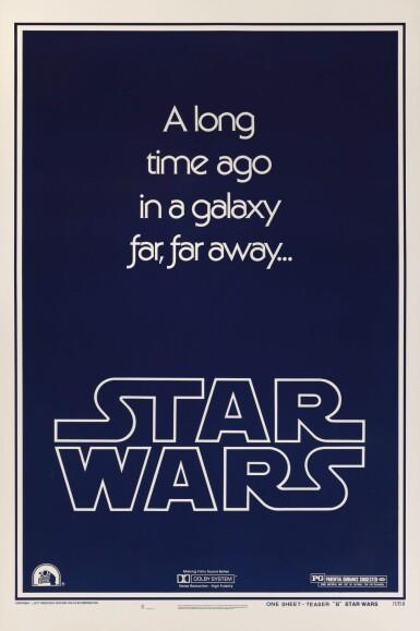 STAR WARS, STYLE B POSTER, ADVANCE, 1977