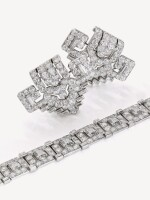 CARTIER | PAIR OF DIAMOND CLIPS, CIRCA 1930