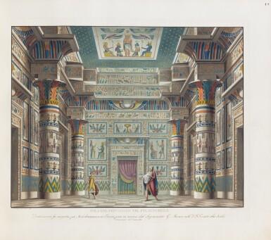 View 2. Thumbnail of Lot 123. Raccolta di varie decorazioni [per la] Scala (c.1830). Reliure romantique attribuable à Thouvenin.