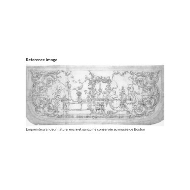 View 9. Thumbnail of Lot 7. A GILT-BRONZE MOUNTED, BRASS-INLAID AND BROWN TORTOISESHELL BOULLE MARQUETRY CONSOLE TABLE, LOUIS XIV, ATTRIBUTED TO ANDRÉ-CHARLES BOULLE AND HIS WORKSHOP, CIRCA 1710-1720 | TABLE À SIX PIEDS EN MARQUETERIE D'ÉCAILLE BRUNE, LAITON GRAVÉS, PLACAGE D'ÉBÈNE ET BRONZE DORÉ D'ÉPOQUE LOUIS XIV, VERS 1710-1720, ATTRIBUÉE À ANDRÉ-CHARLES BOULLE ET SON ATELIER.