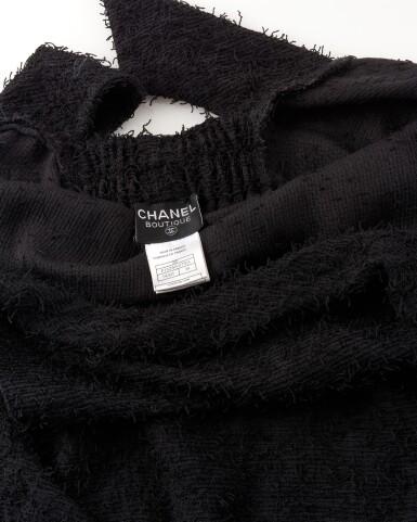 View 4. Thumbnail of Lot 181. Black open-back dress.