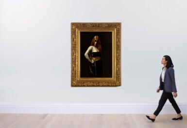 View 4. Thumbnail of Lot 6. JUANA ROMANI | PORTRAIT OF A WOMAN WITH RED HAIR.