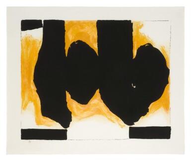 View 1. Thumbnail of Lot 82. ROBERT MOTHERWELL |  BURNING ELEGY (WALKER ART CENTER 520).
