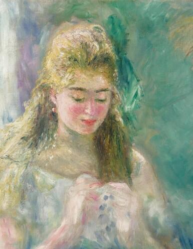 View 2. Thumbnail of Lot 1015. Pierre-Auguste Renoir 皮耶・奧古斯特・雷諾瓦 | La couseuse 縫紉的女子.