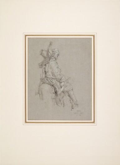View 2. Thumbnail of Lot 70. An Arab on horseback.