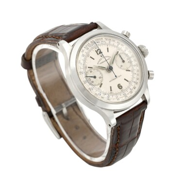 View 3. Thumbnail of Lot 393. 'MONOBLOCCO', REF 3525 STAINLESS STEEL CHRONOGRAPH WRISTWATCH CIRCA 1945.