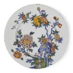 A DUTCH DELFT POLYCHROME PLATE | CIRCA 1735
