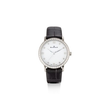 View 1. Thumbnail of Lot 105. BLANCPAIN   VILLERET, REFERENCE 6104 4628 55A A STAINLESS STEEL AND DIAMOND-SET WRISTWATCH, CIRCA 2018.