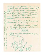 Pablo Neruda, 16 letters, together with documents, photographs and telegrams to Paolo Ricci, 1950-1953