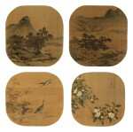 ANONYMOUS 佚名   ALBUM OF VARIOUS OBJECTS AFTER SONG AND YUAN MASTERS 擬宋元諸家雜畫冊