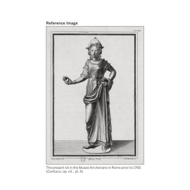 View 7. Thumbnail of Lot 205. AN ETRUSCAN BRONZE FIGURE OF A GODDESS, CIRCA 2ND CENTURY B.C..