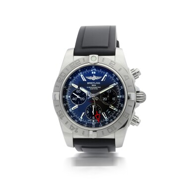 BREITLING  |  REFERENCE AB0420 CHRONOMAT   A STAINLESS STEEL AUTOMATIC DUAL TIME CHRONOGRAPH WRISTWATCH WITH DATE, CIRCA 2012