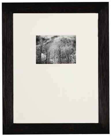 View 2. Thumbnail of Lot 85. 'Trees And Cliffs of Eagle Peak, Winter' (horizontal).