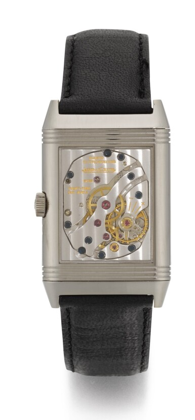 View 3. Thumbnail of Lot 21. JAEGER LECOULTRE | REVERSO NIGHT AND DAY, REFERENCE 270.3.63, WHITE GOLD REVERSIBLE RECTANGULAR WRISTWATCH WITH MOON-PHASES, POWER-RESERVE AND DAY/NIGHT INDICATION, CIRCA 2000.
