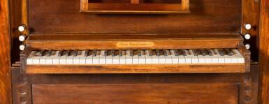 View 5. Thumbnail of Lot 167. A George III mahogany chamber organ by Hugh Russell, 1780.