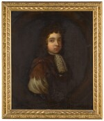 ENGLISH SCHOOL, CIRCA 1690 | Portrait of a boy wearing brown Roman robes, half-length, with a white lace jabot