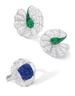 FORMS | SAPPHIRE AND DIAMOND RING | FORMS | 7.95卡拉 天然「緬甸皇家藍」未經加熱藍寶石 配 鑽石 戒指