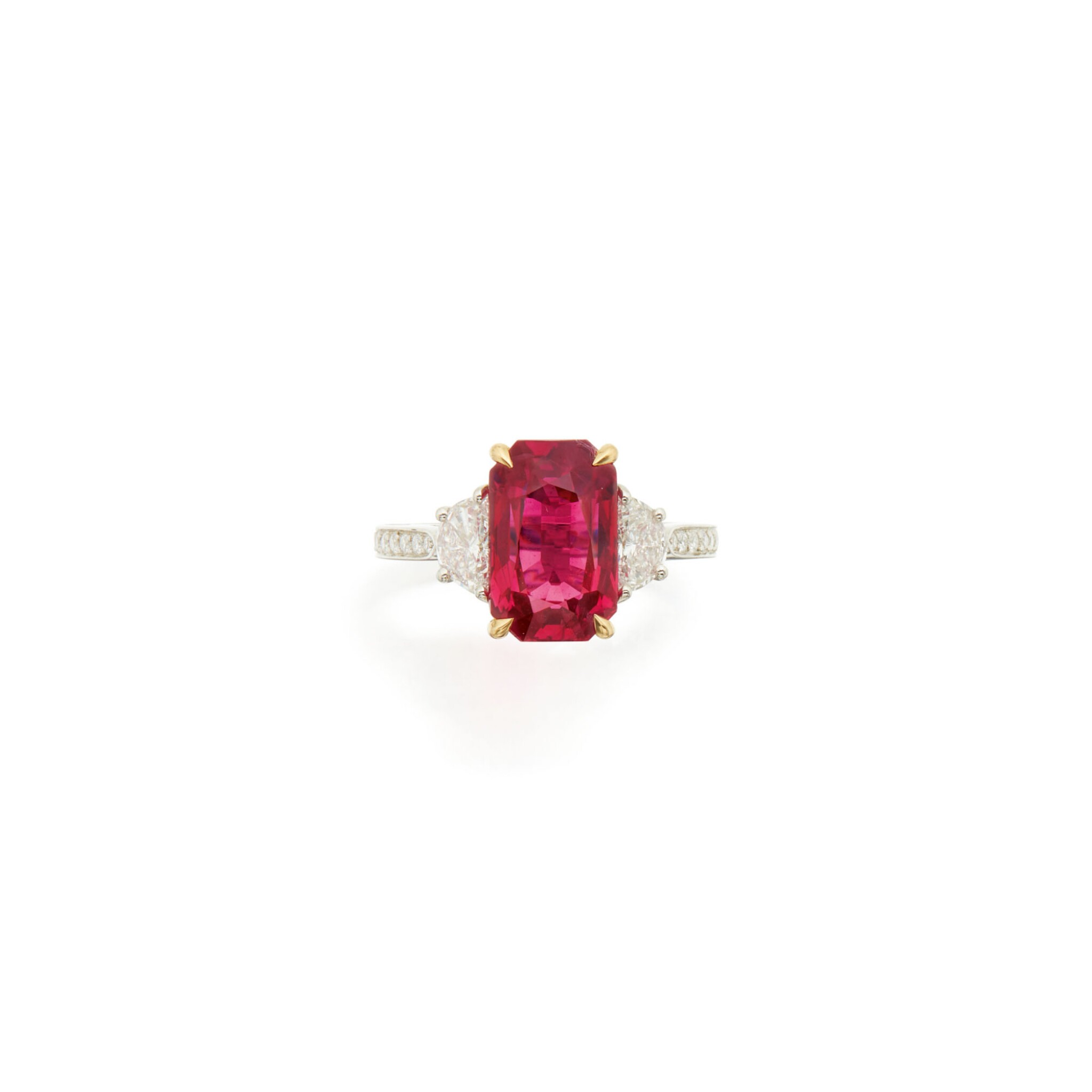 View full screen - View 1 of Lot 67. RUBY AND DIAMOND RING, NARDI.