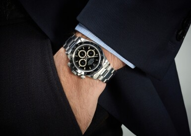 View 5. Thumbnail of Lot 65. ROLEX   DAYTONA INVERTED SIX, REFERENCE 16520, STAINLESS STEEL CHRONOGRAPH WRISTWATCH WITH BRACELET, CIRCA 1991.