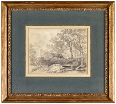 View 3. Thumbnail of Lot 16. THOMAS GAINSBOROUGH, R.A.  |  A WOODED LANDSCAPE.
